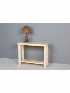 NORTHERN EXPOSURE PINE LOG SOFA TABLE