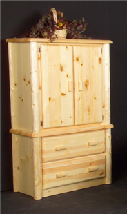 NORTHWOODS 2 DRAWER ARMOIRE