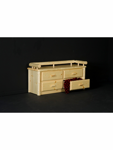 NORTHWOODS 4 DRAWER DEACON'S BENCH