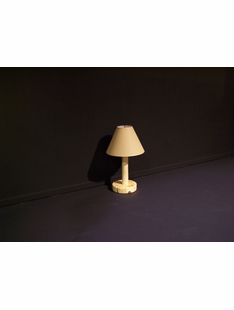 NORTHWOODS TABLE LAMP W/ TAN SHADE