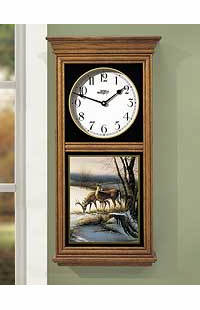 ON THE ALERT REGULATOR CLOCK OAK OR BLACK
