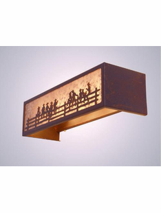 ON THE FENCE RUSTIC STEEL VANITY LIGHT