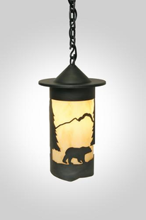 "PASADENA BEAR HANGING PENDANT LIGHT - 15""H X 8""W"