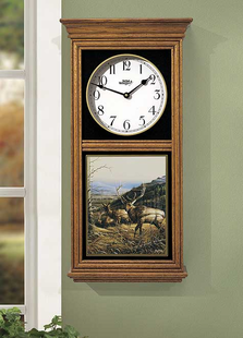 PASSING THROUGH-ELK REGULATOR CLOCK OAK OR BLACK