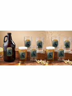 Personalized Beer Growler & Glass Sets