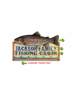 PICK YOUR FISH PERSONALIZED SIGN