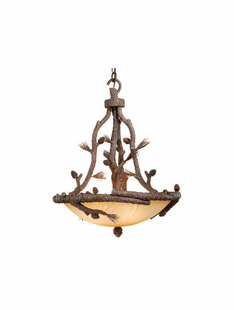 PINE BRANCH 4 LIGHT PENDANT
