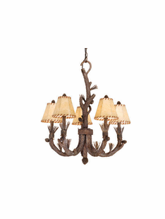 PINE BRANCH 5 LIGHT CHANDELIER