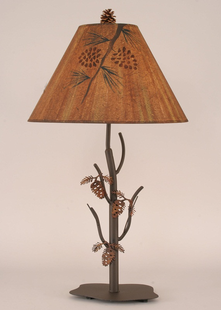 PINE CONE METAL TABLE LAMP