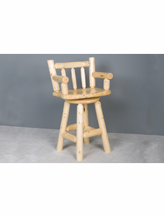PINE LOG CAPTAIN'S CHAIR 30""