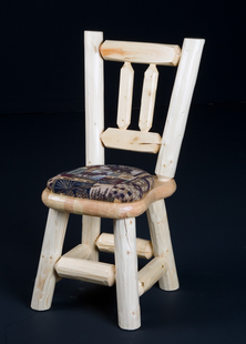 PINE LOG DINING CHAIR CUSHION SEAT