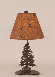 PINE TREE WITH BEAR METAL DESK LAMP