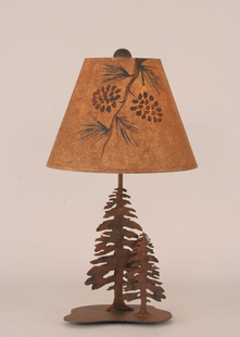 PINE TREES METAL DESK LAMP