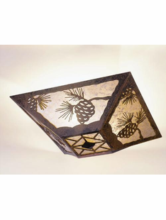 "PINECONE CEILING DROP MOUNT- 7.5""H X 17"" X 17.5""W"