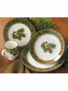 Pinecone Dinnerware 16-Piece Set