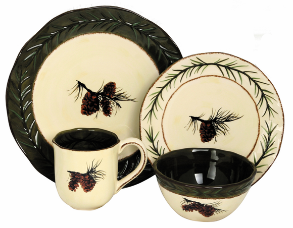 sc 1 st  The Burly Bear & PINECONE DINNERWARE SET