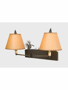 PINECONE DOUBLE SWING ARM WALL SCONCE