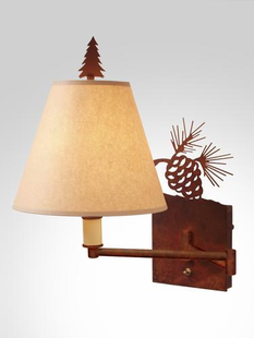 PINECONE SINGLE SWING ARM WALL SCONCE