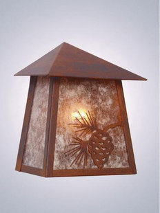 PINECONE TRI ROOF SCONCE