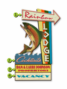 RAINBOW LODGE PERSONALIZED SIGN