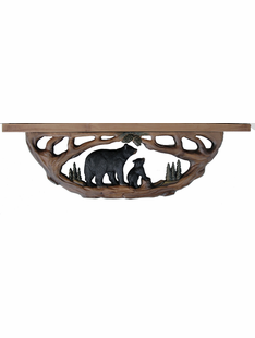 Real Wood Bear Wall Shelf