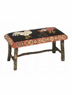 ROOSTER HICKORY BENCH