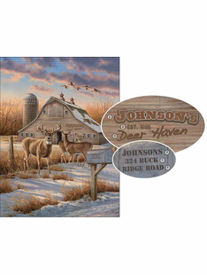 Rural Route-Deer Personalized Art