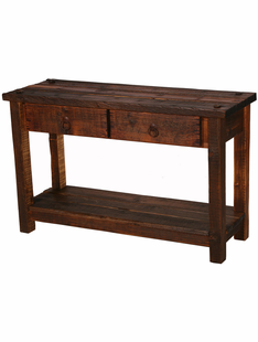 RUSTIC HERITAGE 2 DRAWER SOFA TABLE