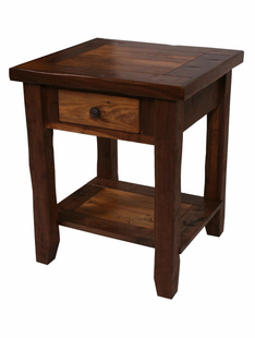RUSTIC WALNUT 1 DRAWER NIGHTSTAND