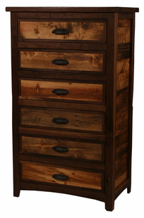 RUSTIC WALNUT 6 DRAWER CHEST