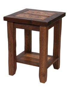 RUSTIC WALNUT SIDE TABLE