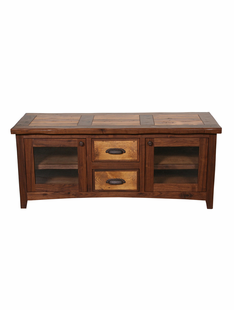 RUSTIC WALNUT TV CONSOLE