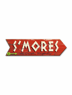 S'MORES ARROW PERSONALIZED SIGN