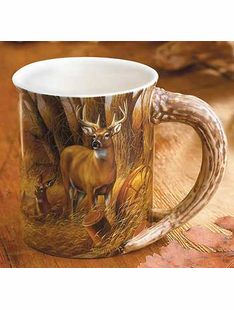 SET of 6 Sculpted Mugs-Rosemary Millette