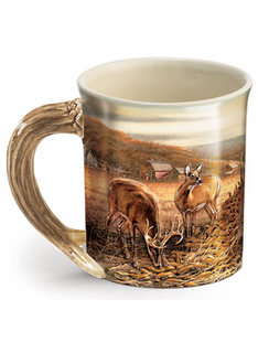 SET OF 6- Terry Reddlin Deer Mugs