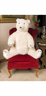 SITTING POLAR BEAR -36""
