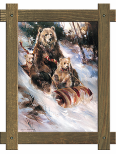 Snow Riders- Sledding Bear Family