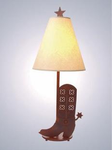 "SPUR OF THE MOMENT TABLE LAMP-30""H X 13""W"