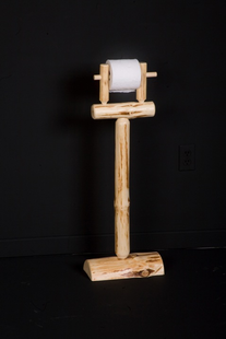 STANDING LOG TOILET PAPER HOLDER