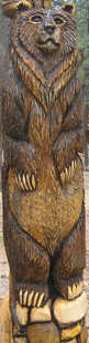 STYLIZED 8FT GRIZZ CARVING