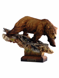 """TAKING THE LEAD"" SMALL GRIZZLY SCULPTURE"