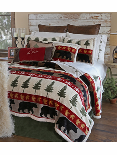 Tall Pine Plush Bedding Sets
