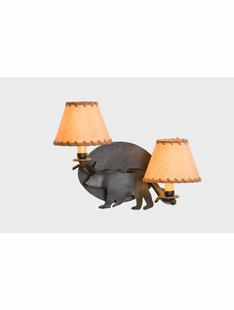 TIMBER BEAR SCONCE - DOUBLE ARM WALL SCONCE