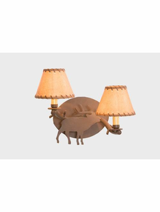 TIMBER ELK SCONCE -DOUBLE ARM WALL SCONCE
