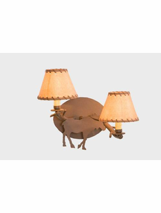TIMBER MOOSE SCONCE -  DOUBLE ARM WALL SCONCE