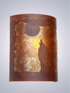 TIMBER RIDGE BARKING AT THE MOON HALF ROUND WALL SCONCE
