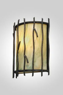 TIMBER RIDGE HALF ROUND STICKS WALL SCONCE