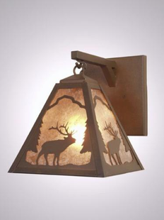 TIMBER RIDGE RUSTIC STEEL ELK PENDANT