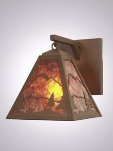 TIMBER RIDGE RUSTIC STEEL EVERGREEN PENDANT