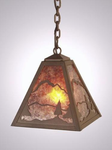 TIMBER RIDGE RUSTIC STEEL HANGING PENDANT LIGHT